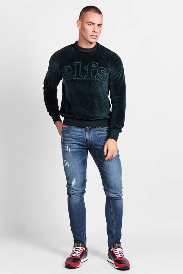 029-Sweater plis zeleni + traperice Uranus