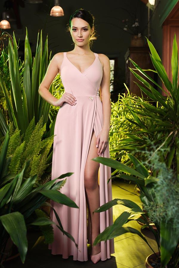 Haljina INNA duga roza