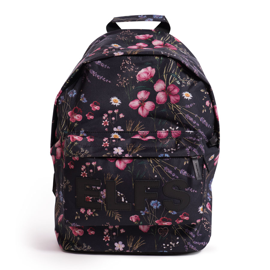 RUKSAK-FLOWERS-BLACK